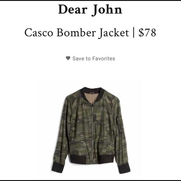 09c3a8284b909 Dear John Jackets & Coats | Casco Camo Bomber Jacket | Poshmark